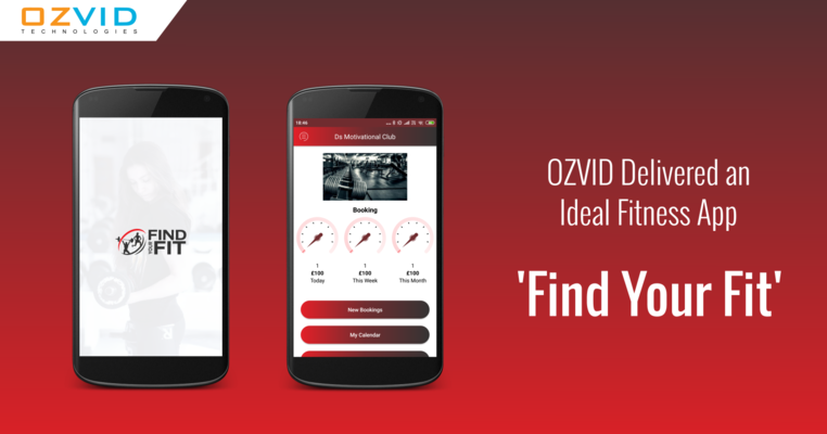 OZVID Delivered an Ideal Fitness App 'Find Your Fit'
